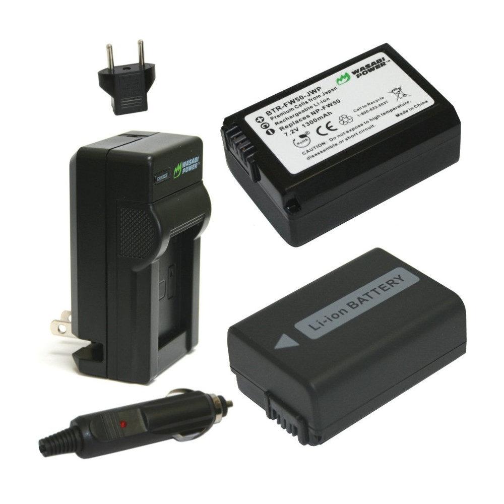 Wasabi Power Sony NP-FW50 Accu en Lader Kit