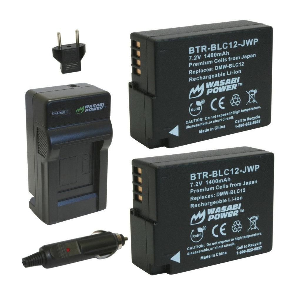 Wasabi Power Panasonic DMW-BLC12 Accu en Lader Kit