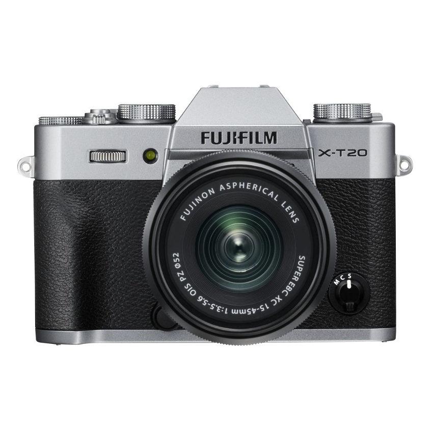 Fujifilm X-T20 systeemcamera Zilver + 15-45mm f/3.5-5.6 OIS PZ <br/>€ 798.00 <br/> <a href='https://www.cameranu.nl/fotografie/?tt=12190_474631_241358_&r=https%3A%2F%2Fwww.cameranu.nl%2Fnl%2Fp2487435%2Ffujifilm-x-t20-systeemcamera-zilver-15-45mm-f-3-5-5-6-ois-pz%3Fchannable%3De10841.MjQ4NzQzNQ%26utm_campaign%3D%26utm_content%3DSysteemcamera%26utm_source%3DTradetracker%26utm_medium%3Dcpc%26utm_term%3DDigitale%2Bcamera%26apos%3Bs' target='_blank'>naar de winkel</a>
