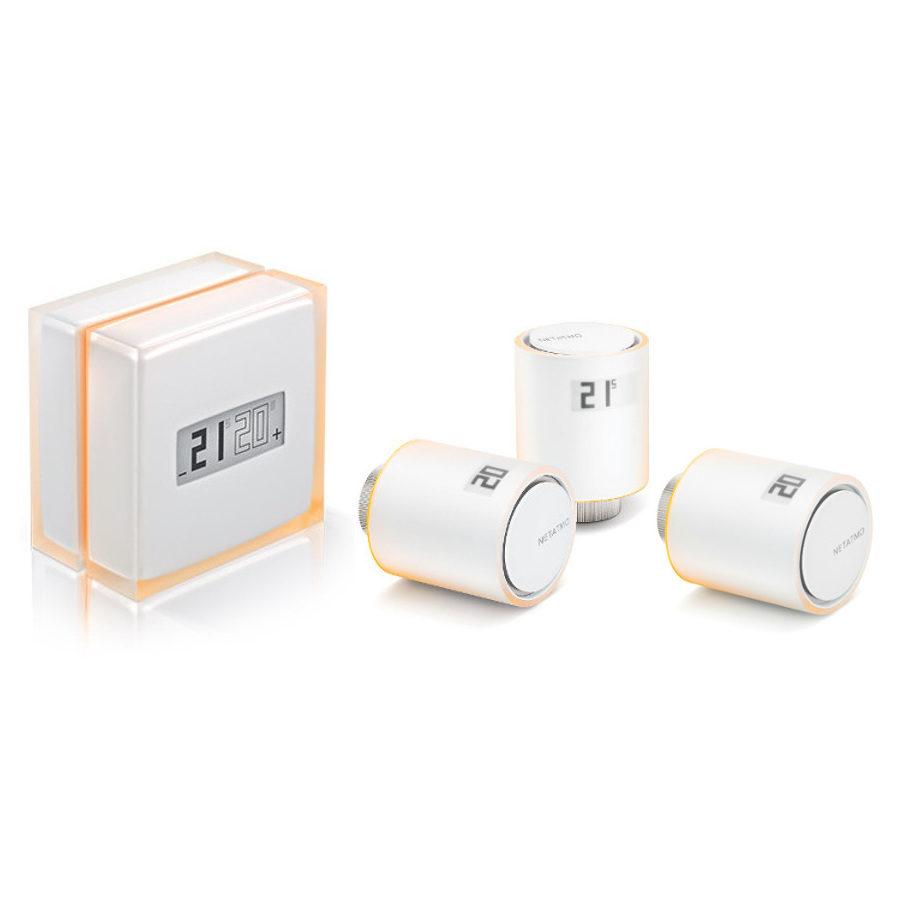 Netatmo Thermostaat + Intelligente Radiatorkranen Startpakket + Extra Radiatorkraan