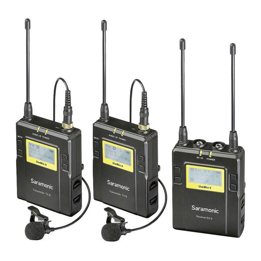 Saramonic UwMic9 TX9 (2x) + RX9 Wireless Microphone set