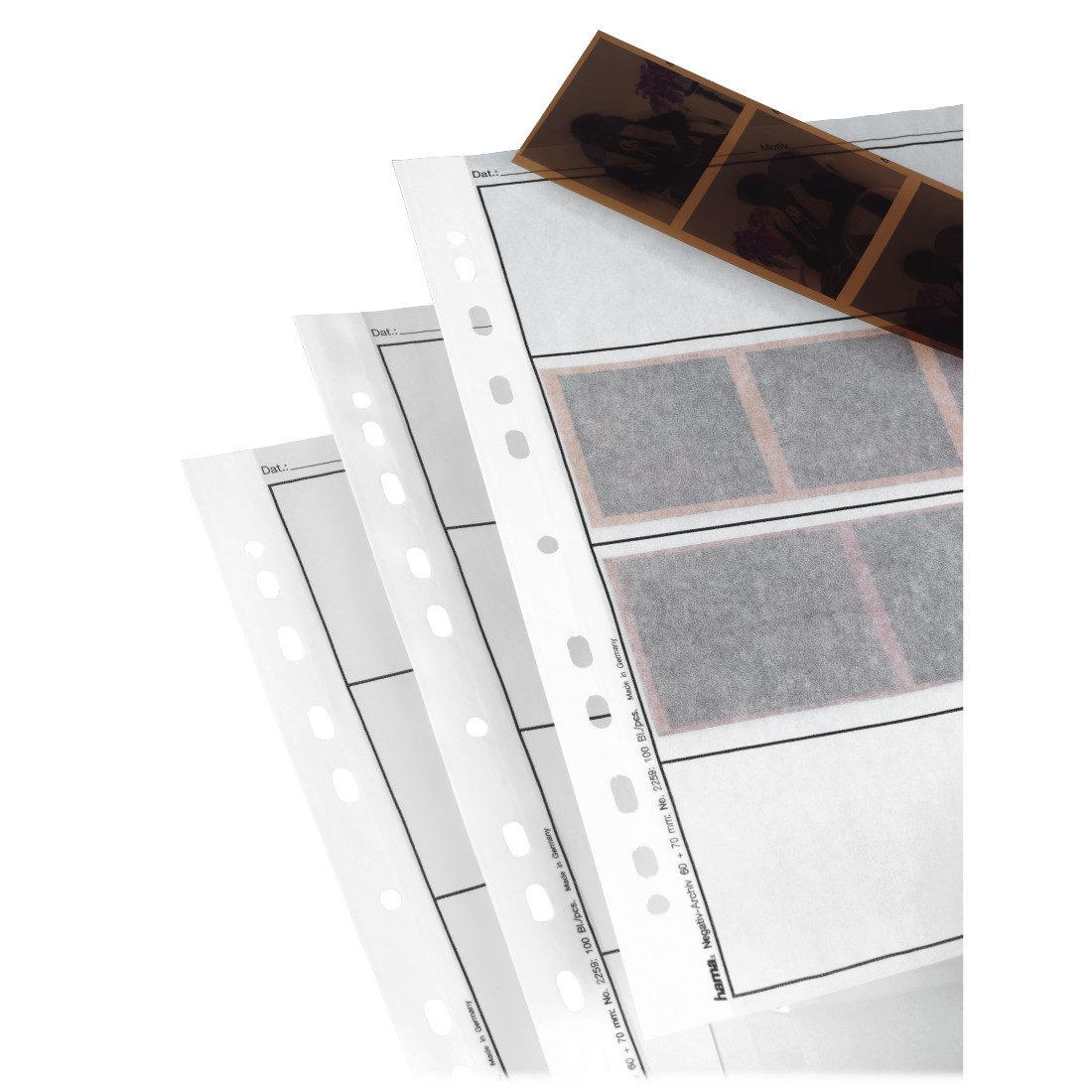 Hama Negatiefbladen Perg.60/70Mm 4X 100St