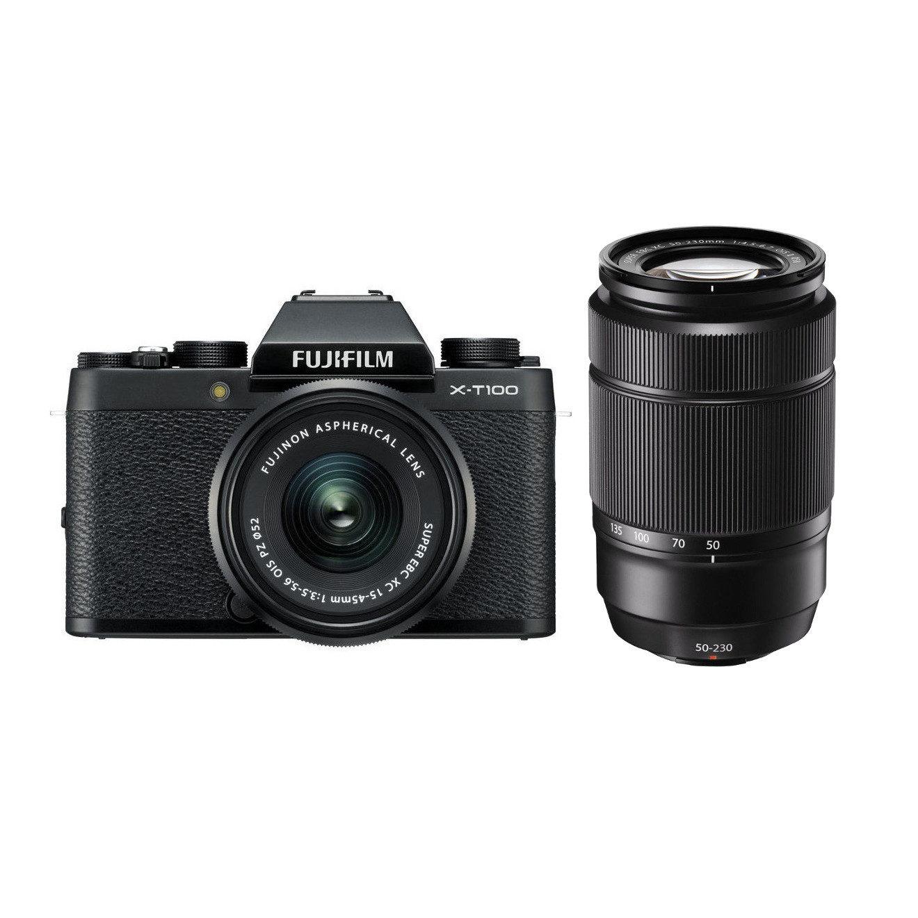 Fujifilm X-T100 systeemcamera Zwart + XC 15-45mm + XC 50-230mm <br/>€ 699.00 <br/> <a href='https://www.cameranu.nl/fotografie/?tt=12190_474631_241358_&r=https%3A%2F%2Fwww.cameranu.nl%2Fnl%2Fp2635675%2Ffujifilm-x-t100-systeemcamera-zwart-xc-15-45mm-xc-50-230mm%3Fchannable%3De10841.MjYzNTY3NQ%26utm_campaign%3D%26utm_content%3DSysteemcamera%26utm_source%3DTradetracker%26utm_medium%3Dcpc%26utm_term%3DDigitale%2Bcamera%26apos%3Bs' target='_blank'>naar de winkel</a>