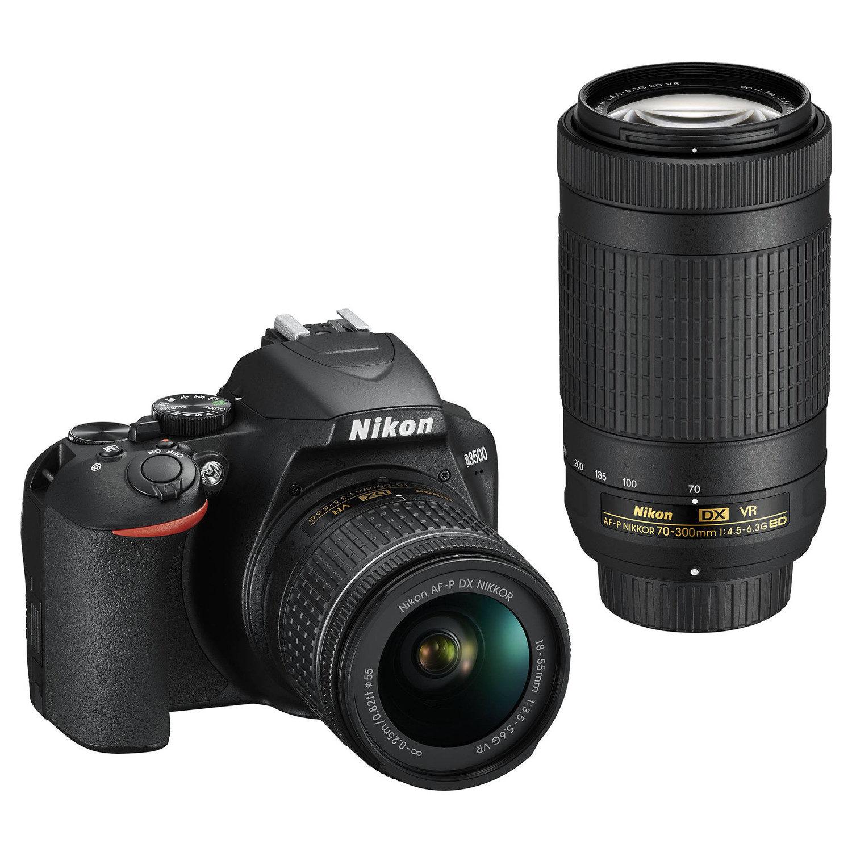 Nikon D3500 DSLR Zwart + AF-P 18-55mm VR + AF-P 70-300mm VR