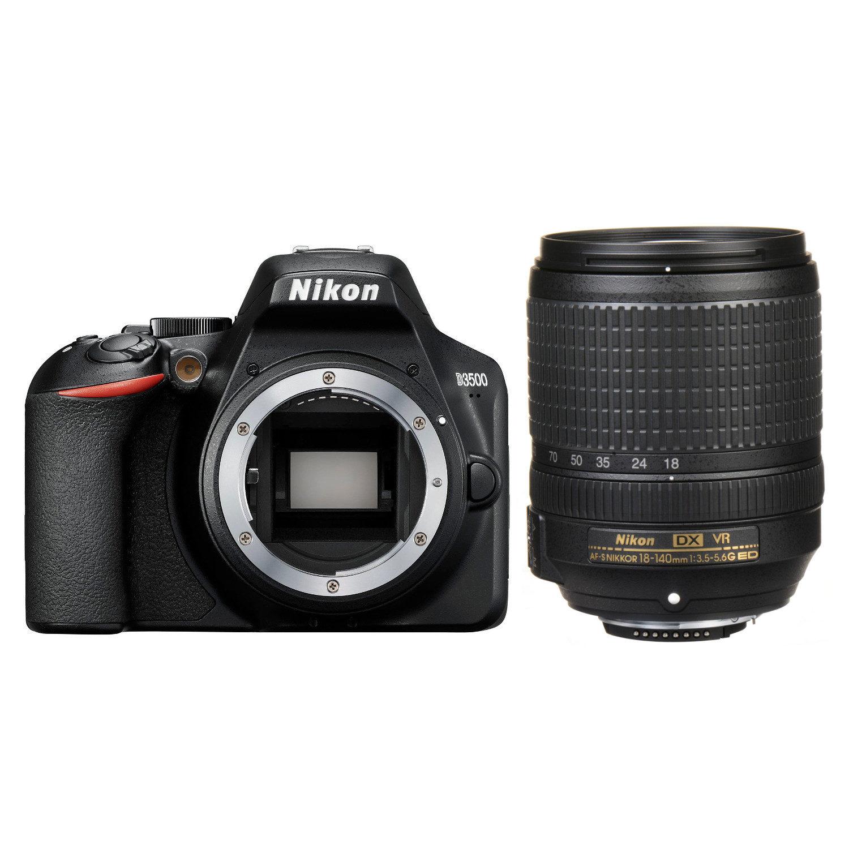 Nikon D3500 DSLR Zwart + 18-140mm f/3.5-5.6G VR