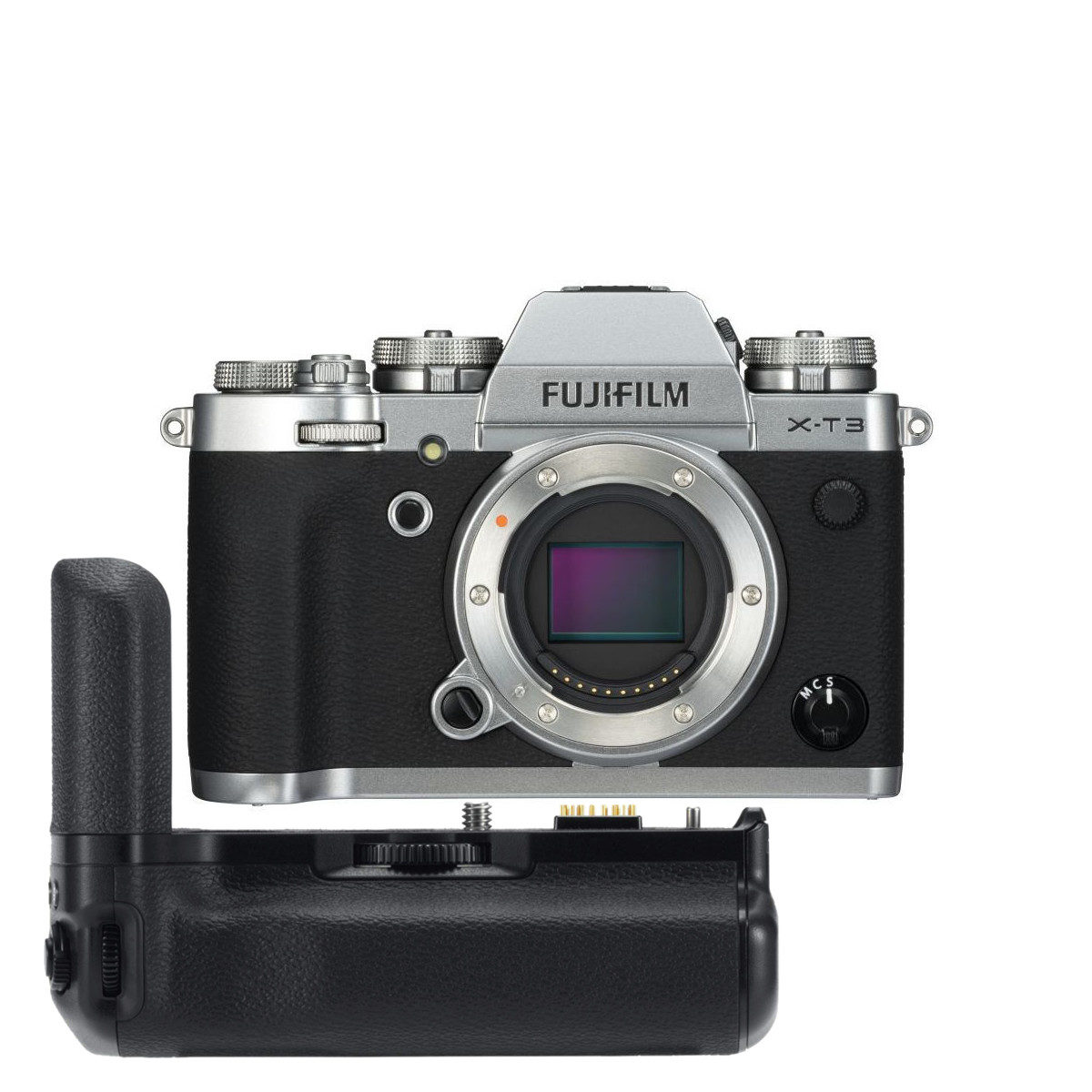 Fujifilm X-T3 systeemcamera Zilver + VG-XT3 Battery Grip