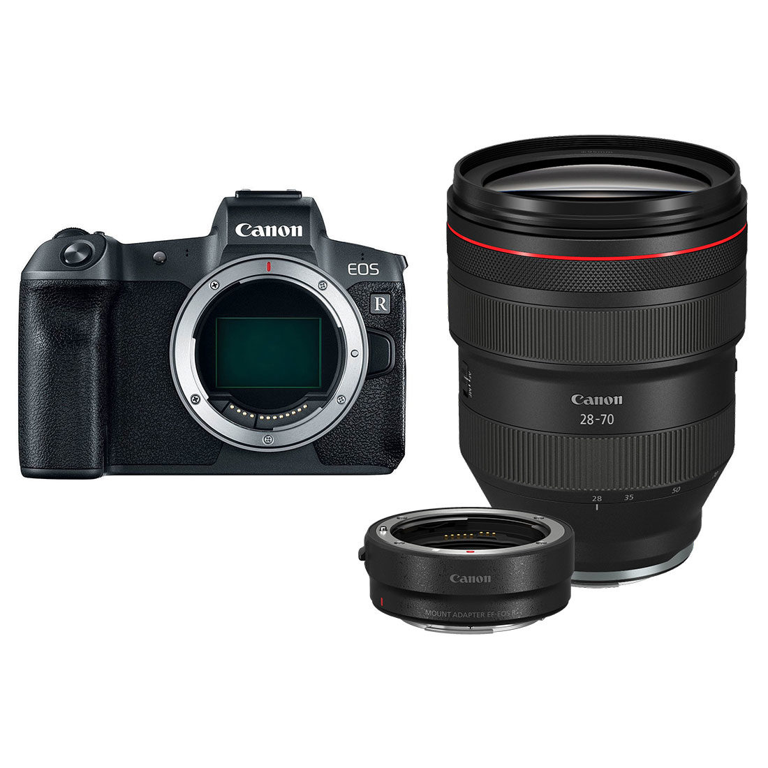 Canon EOS R systeemcamera Zwart + RF 28-70mm f/2.0L + EF-adapter
