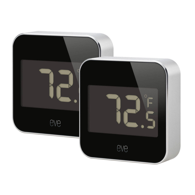 Eve Degree Temperatuur en Luchtvochtigheid monitor - 2 stuks
