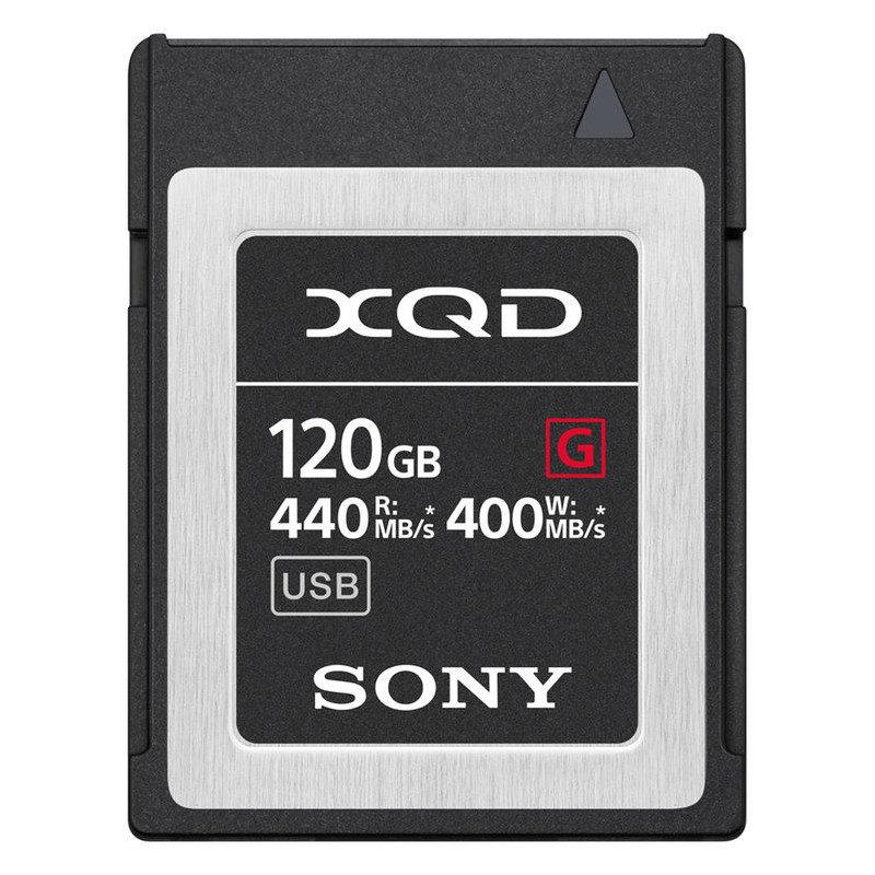 Sony 120GB 440MB/s G-series High Speed XQD-kaart met korting