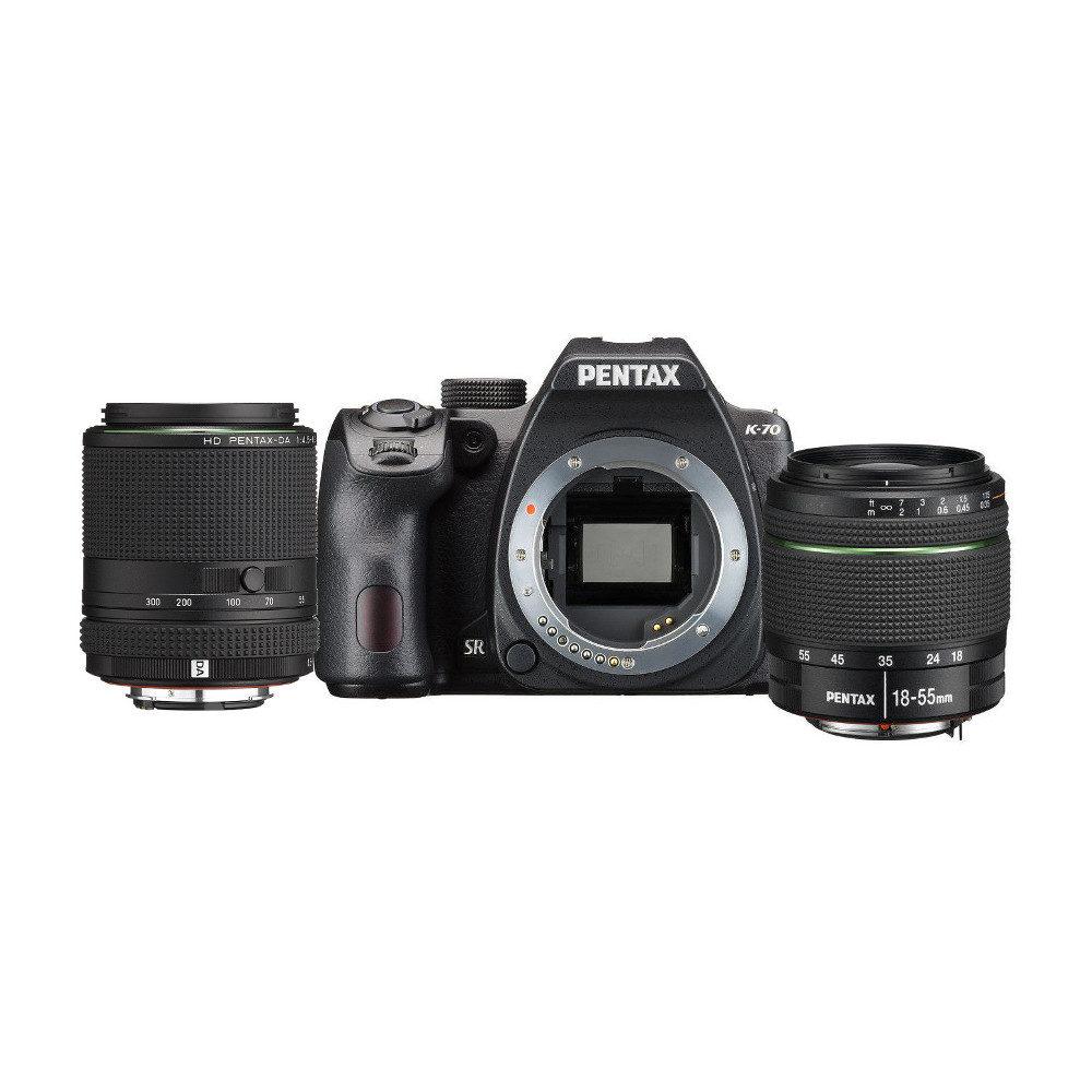 Pentax K-70 DSLR Zwart + 18-55mm + 55-300mm <br/>€ 999.00 <br/> <a href='https://www.cameranu.nl/fotografie/?tt=12190_474631_241358_&r=https%3A%2F%2Fwww.cameranu.nl%2Fnl%2Fp2853745%2Fpentax-k-70-dslr-zwart-18-55mm-55-300mm%3Fchannable%3De10841.Mjg1Mzc0NQ%26utm_campaign%3D%26utm_content%3DSpiegelreflex%2Bcamera%26utm_source%3DTradetracker%26utm_medium%3Dcpc%26utm_term%3DDigitale%2Bcamera%26apos%3Bs' target='_blank'>naar de winkel</a>