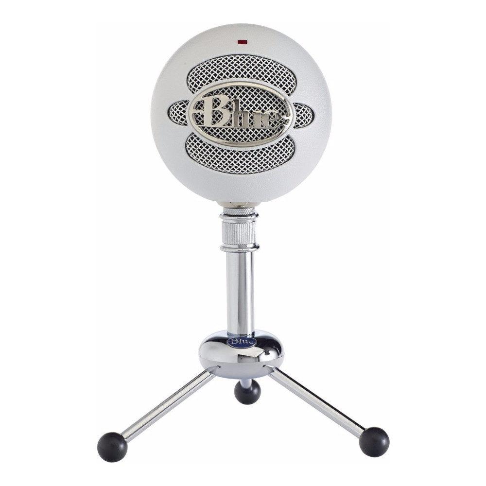 Afbeelding van Blue Snowball USB Microphone Textured White