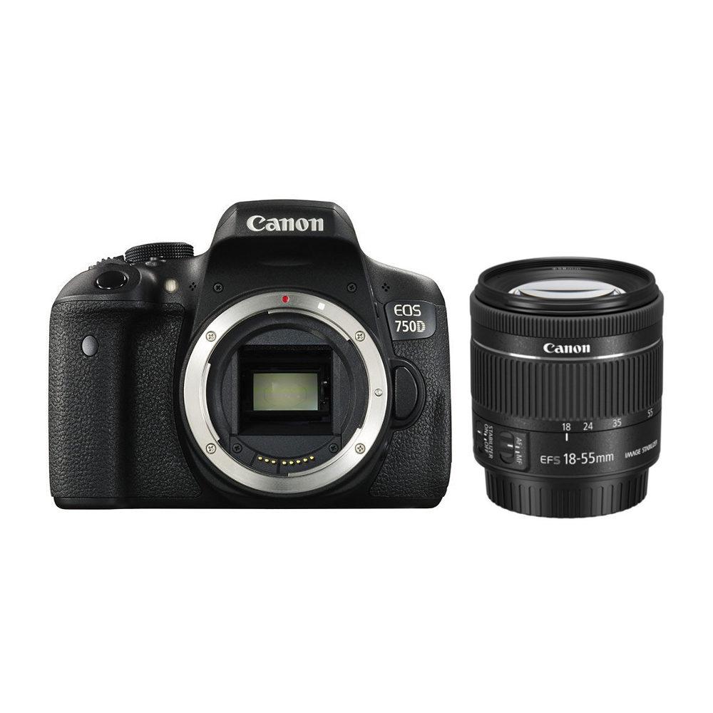 Canon EOS 750D DSLR + 18 55mm IS STM
