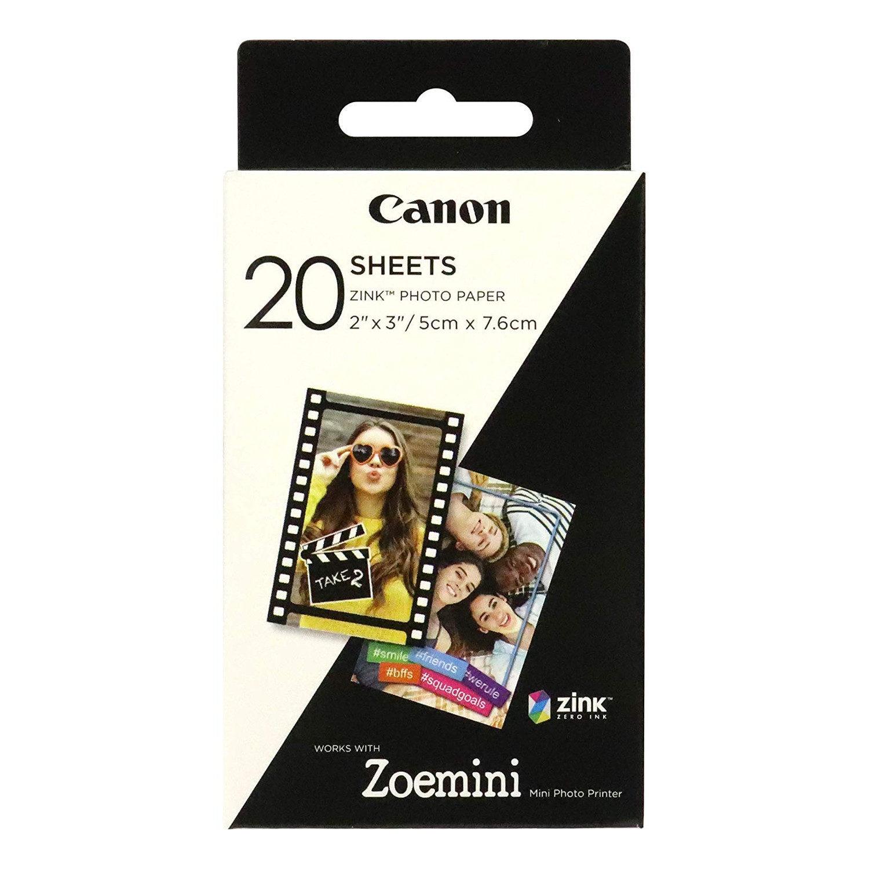 20 vel Canon ZINK™ 2x3 (5x7,6cm) fotopapier