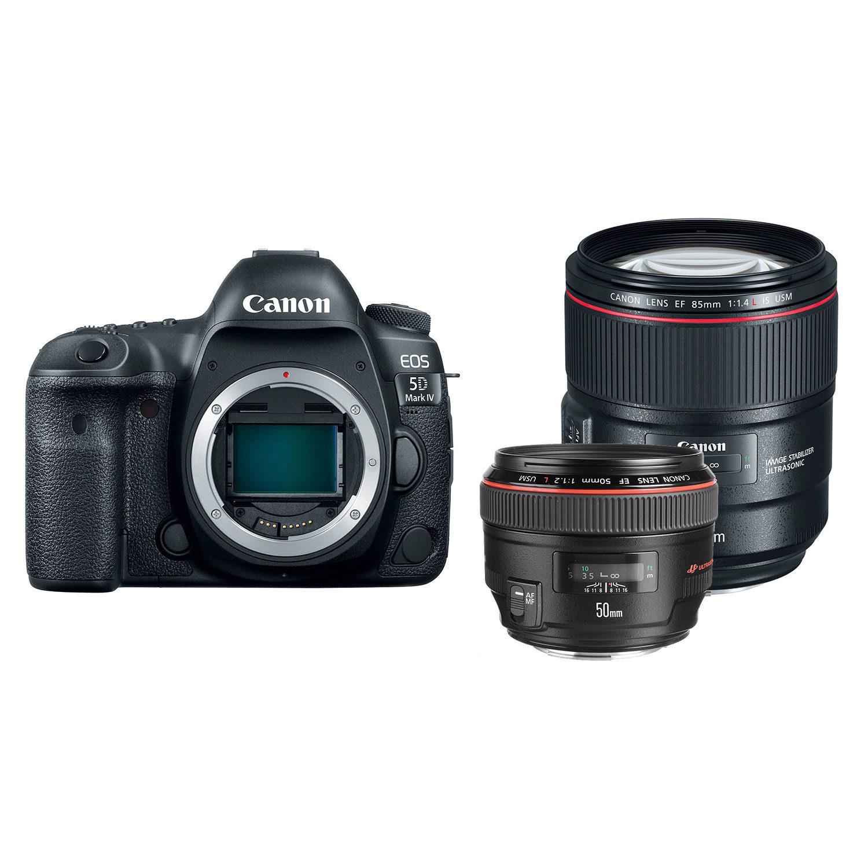 Canon EOS 5D Mark IV DSLR + 50mm f1.2L USM + 85mm f1.4L IS USM