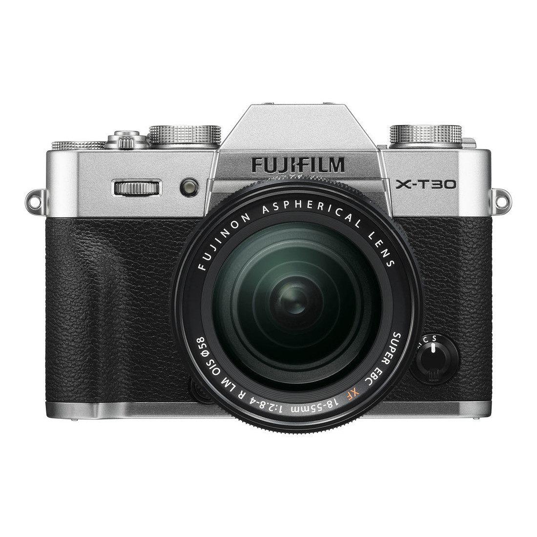 Fujifilm X-T30 systeemcamera Zilver + 18-55mm f/2.8-4.0 OIS <br/>€ 1249.00 <br/> <a href='https://www.cameranu.nl/fotografie/?tt=12190_474631_241358_&r=https%3A%2F%2Fwww.cameranu.nl%2Fnl%2Fp2949155%2Ffujifilm-x-t30-systeemcamera-zilver-18-55mm-f-2-8-4-0-ois%3Fchannable%3De10841.Mjk0OTE1NQ%26utm_campaign%3D%26utm_content%3DSysteemcamera%26utm_source%3DTradetracker%26utm_medium%3Dcpc%26utm_term%3DDigitale%2Bcamera%26apos%3Bs' target='_blank'>naar de winkel</a>