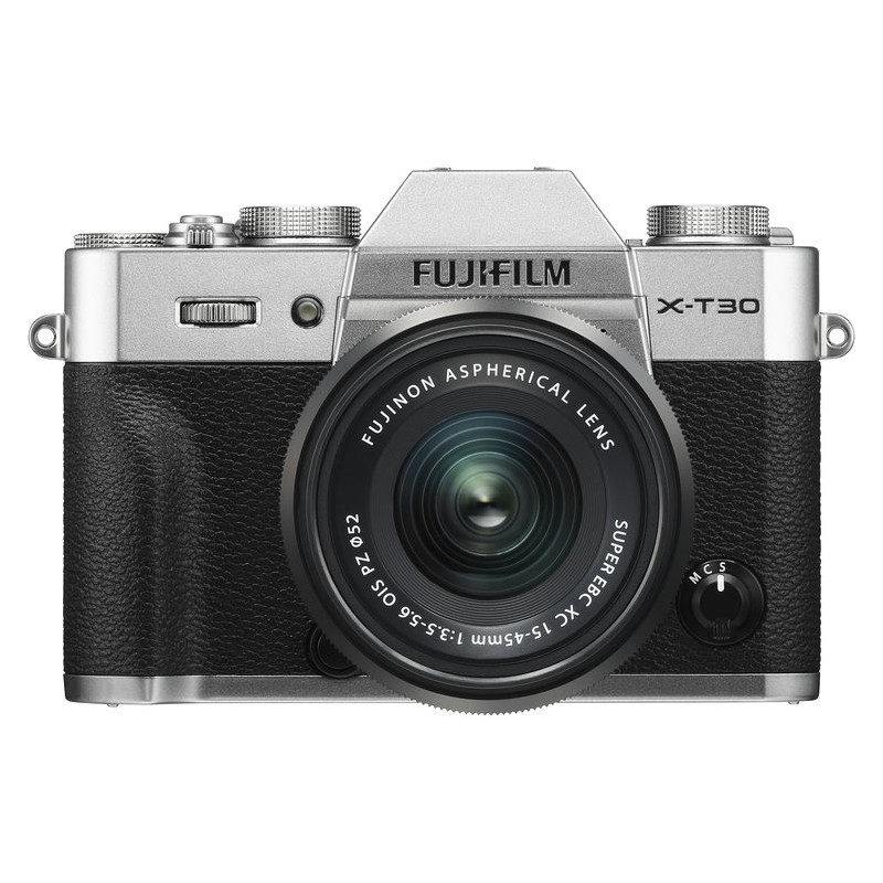 Fujifilm X-T30 systeemcamera Zilver + XC 15-45mm f/3.5-5.6 OIS PZ objectief Zwar <br/>€ 949.00 <br/> <a href='https://www.cameranu.nl/fotografie/?tt=12190_474631_241358_&r=https%3A%2F%2Fwww.cameranu.nl%2Fnl%2Fp2949165%2Ffujifilm-x-t30-systeemcamera-zilver-xc-15-45mm-f-3-5-5-6-ois-pz-objectief-zwart%3Fchannable%3De10841.Mjk0OTE2NQ%26utm_campaign%3D%26utm_content%3DSysteemcamera%26utm_source%3DTradetracker%26utm_medium%3Dcpc%26utm_term%3DDigitale%2Bcamera%26apos%3Bs' target='_blank'>naar de winkel</a>