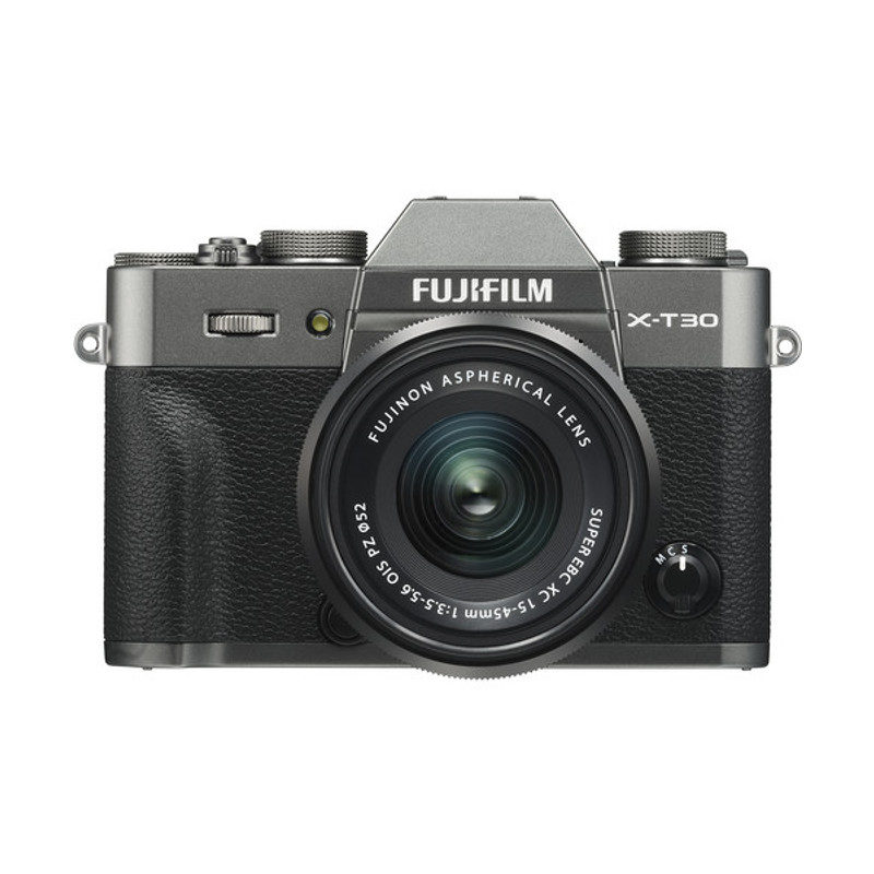 Fujifilm X-T30 systeemcamera Charcoal Silver + XC 15-45mm f/3.5-5.6 OIS PZ objectief Zwart