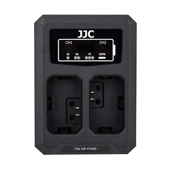 JJC DCH-NPFW50 USB Dual Battery Charger (voor Sony NP-FW50 accu)
