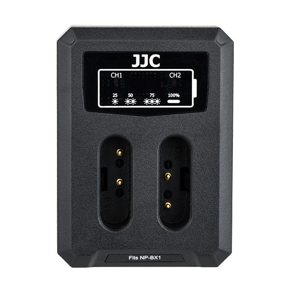 JJC DCH-NPBX1 USB Dual Battery Charger (voor Sony BX1 accu)