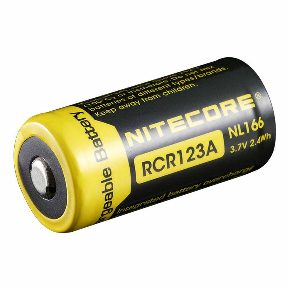 Nitecore NL166 RCR123A Li-ion batterij 650mAh