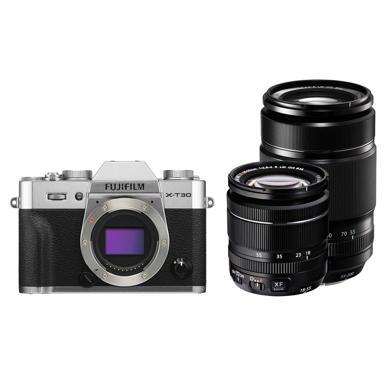 Fujifilm X-T30 systeemcamera Zilver + XF 18-55mm + XF 55-200mm <br/>€ 1849.00 <br/> <a href='https://www.cameranu.nl/fotografie/?tt=12190_474631_241358_&r=https%3A%2F%2Fwww.cameranu.nl%2Fnl%2Fp3045825%2Ffujifilm-x-t30-systeemcamera-zilver-xf-18-55mm-xf-55-200mm%3Fchannable%3De10841.MzA0NTgyNQ%26utm_campaign%3D%26utm_content%3DSysteemcamera%26utm_source%3DTradetracker%26utm_medium%3Dcpc%26utm_term%3DDigitale%2Bcamera%26apos%3Bs' target='_blank'>naar de winkel</a>