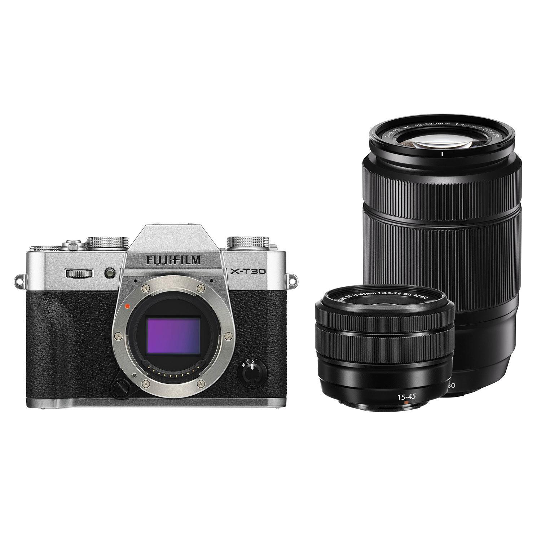 Fujifilm X-T30 systeemcamera Zilver + XC 15-45mm + XC 50-230mm <br/>€ 1149.00 <br/> <a href='https://www.cameranu.nl/fotografie/?tt=12190_474631_241358_&r=https%3A%2F%2Fwww.cameranu.nl%2Fnl%2Fp3045805%2Ffujifilm-x-t30-systeemcamera-zilver-xc-15-45mm-xc-50-230mm%3Fchannable%3De10841.MzA0NTgwNQ%26utm_campaign%3D%26utm_content%3DSysteemcamera%26utm_source%3DTradetracker%26utm_medium%3Dcpc%26utm_term%3DDigitale%2Bcamera%26apos%3Bs' target='_blank'>naar de winkel</a>