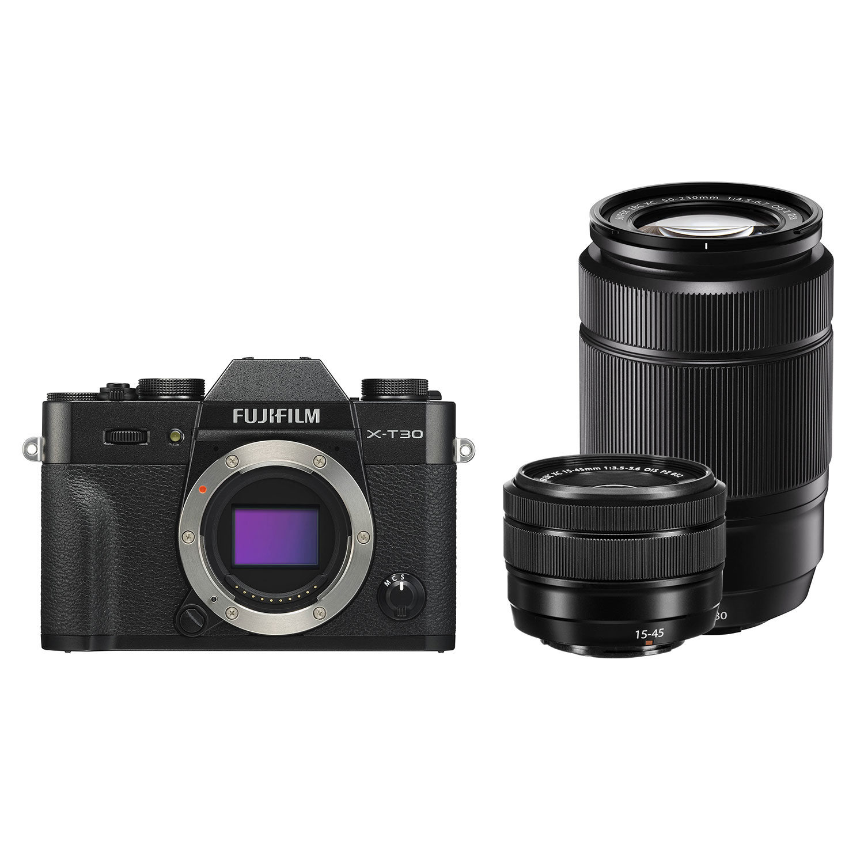 Fujifilm X-T30 systeemcamera Zwart + XC 15-45mm + XC 50-230mm <br/>€ 1149.00 <br/> <a href='https://www.cameranu.nl/fotografie/?tt=12190_474631_241358_&r=https%3A%2F%2Fwww.cameranu.nl%2Fnl%2Fp3045795%2Ffujifilm-x-t30-systeemcamera-zwart-xc-15-45mm-xc-50-230mm%3Fchannable%3De10841.MzA0NTc5NQ%26utm_campaign%3D%26utm_content%3DSysteemcamera%26utm_source%3DTradetracker%26utm_medium%3Dcpc%26utm_term%3DDigitale%2Bcamera%26apos%3Bs' target='_blank'>naar de winkel</a>