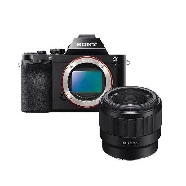 Sony Alpha A7 systeemcamera + FE 50mm f/1.8 <br/>€ 879.00 <br/> <a href='https://www.cameranu.nl/fotografie/?tt=12190_474631_241358_&r=https%3A%2F%2Fwww.cameranu.nl%2Fnl%2Fp3060762%2Fsony-alpha-a7-systeemcamera-fe-50mm-f-1-8%3Fchannable%3De10841.MzA2MDc2Mg%26utm_campaign%3D%26utm_content%3DSony%2Bsysteemcamera%26utm_source%3DTradetracker%26utm_medium%3Dcpc%26utm_term%3DDigitale%2Bcamera%26apos%3Bs' target='_blank'>naar de winkel</a>