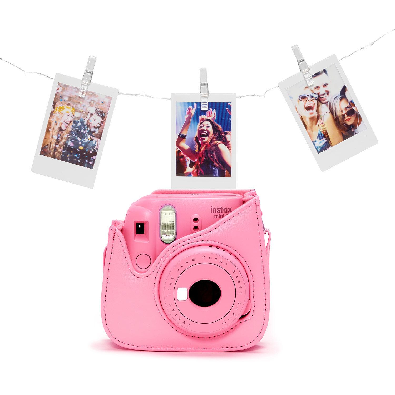 Fujifilm Instax Mini 9 instant camera Flamingo Pink Bundel