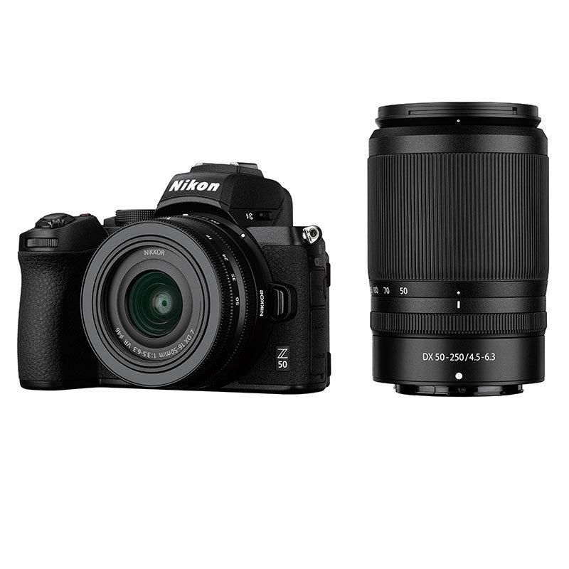 Nikon Z50 systeemcamera + 16-50mm f/3.5-6.3 VR + 50-250mm f/4.5-6.3 VR
