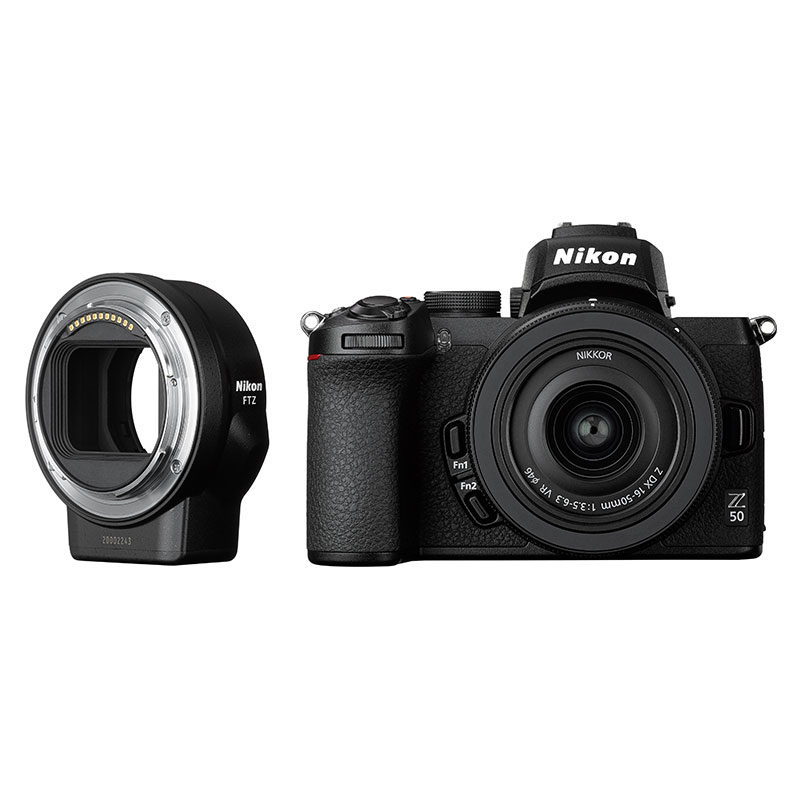 Nikon Z50 systeemcamera + 16-50mm f/3.5-6.3 VR + FTZ adapter