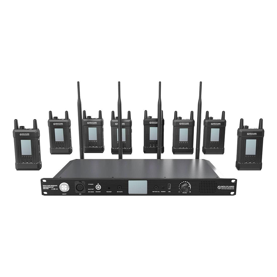 Hollyland Syscom 1000T Full Duplex Intercom System + 8 Beltpacks
