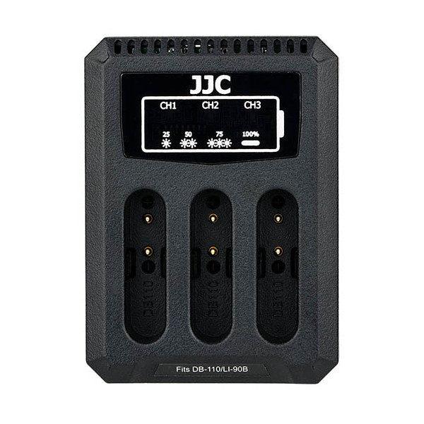 JJC DCH-DB110 USB Dual Battery Charger (voor Ricoh DB-110/Olympus LI-90B/Canon LP-E8)