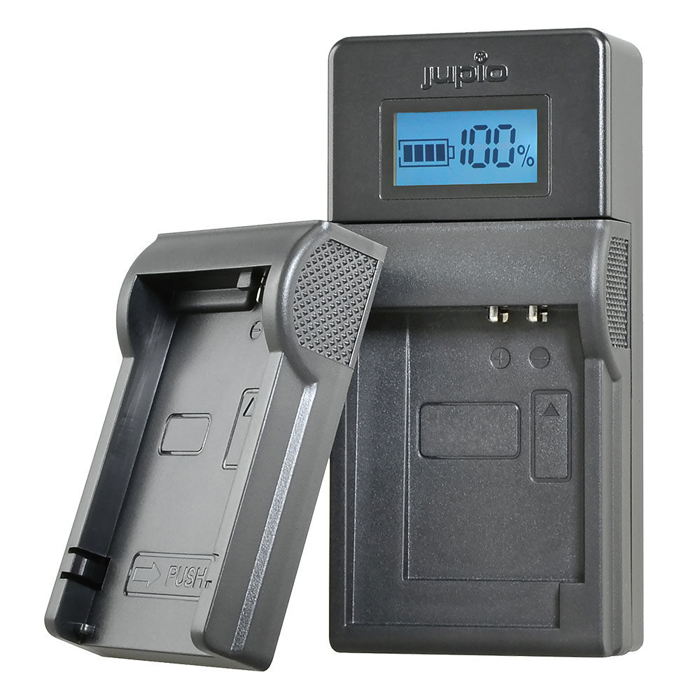 Jupio USB Brand Charger Kit voor JVC/Samsung/Sony 7.2V-8.4V accu's