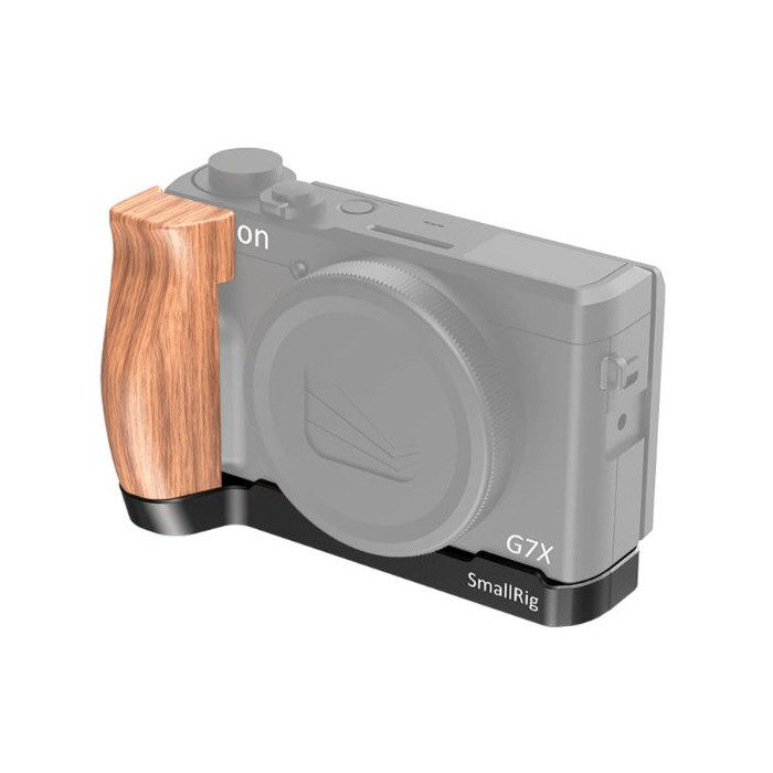 SmallRig 2445 L-Shaped Wooden Grip voor Canon G7 X Mark III
