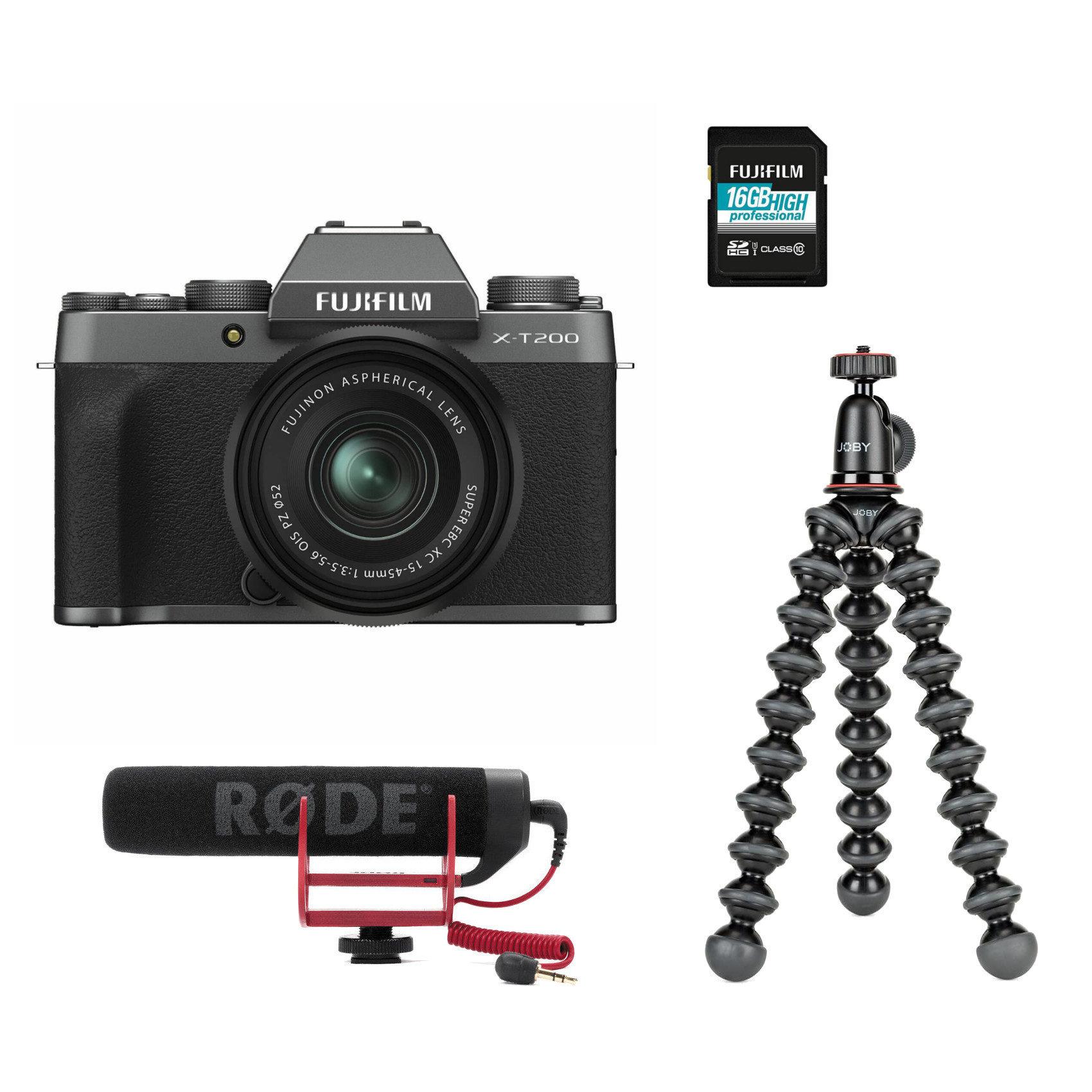 Fujifilm X-T200 systeemcamera Donker Zilver + XC 15-45mm Vlogger Kit <br/>€ 899.00 <br/> <a href='https://www.cameranu.nl/fotografie/?tt=12190_474631_241358_&r=https%3A%2F%2Fwww.cameranu.nl%2Fnl%2Fp3174067%2Ffujifilm-x-t200-systeemcamera-donker-zilver-xc-15-45mm-vlogger-kit%3Fchannable%3De10841.MzE3NDA2Nw%26utm_campaign%3D%26utm_content%3DSysteemcamera%26utm_source%3DTradetracker%26utm_medium%3Dcpc%26utm_term%3DDigitale%2Bcamera%26apos%3Bs' target='_blank'>naar de winkel</a>