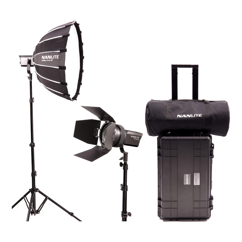 Nanlite Forza 60 LED Dual Kit inclusief Hardcase