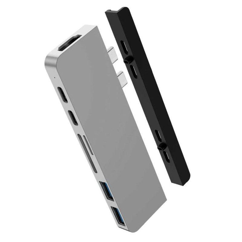 Hyper HyperDrive Duo 7-in-2 USB-C Hub Gray