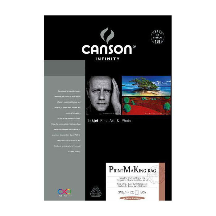 Canson Infinity PrintMaKing RAG 310g A3+ 25 vel