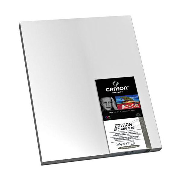 Canson Infinity Editing Etching Rag 310g A3+ 25 vel