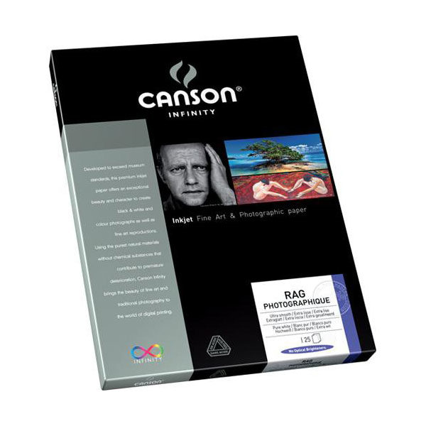 Canson Infinity Rag Photographique 310g A3 25 vel