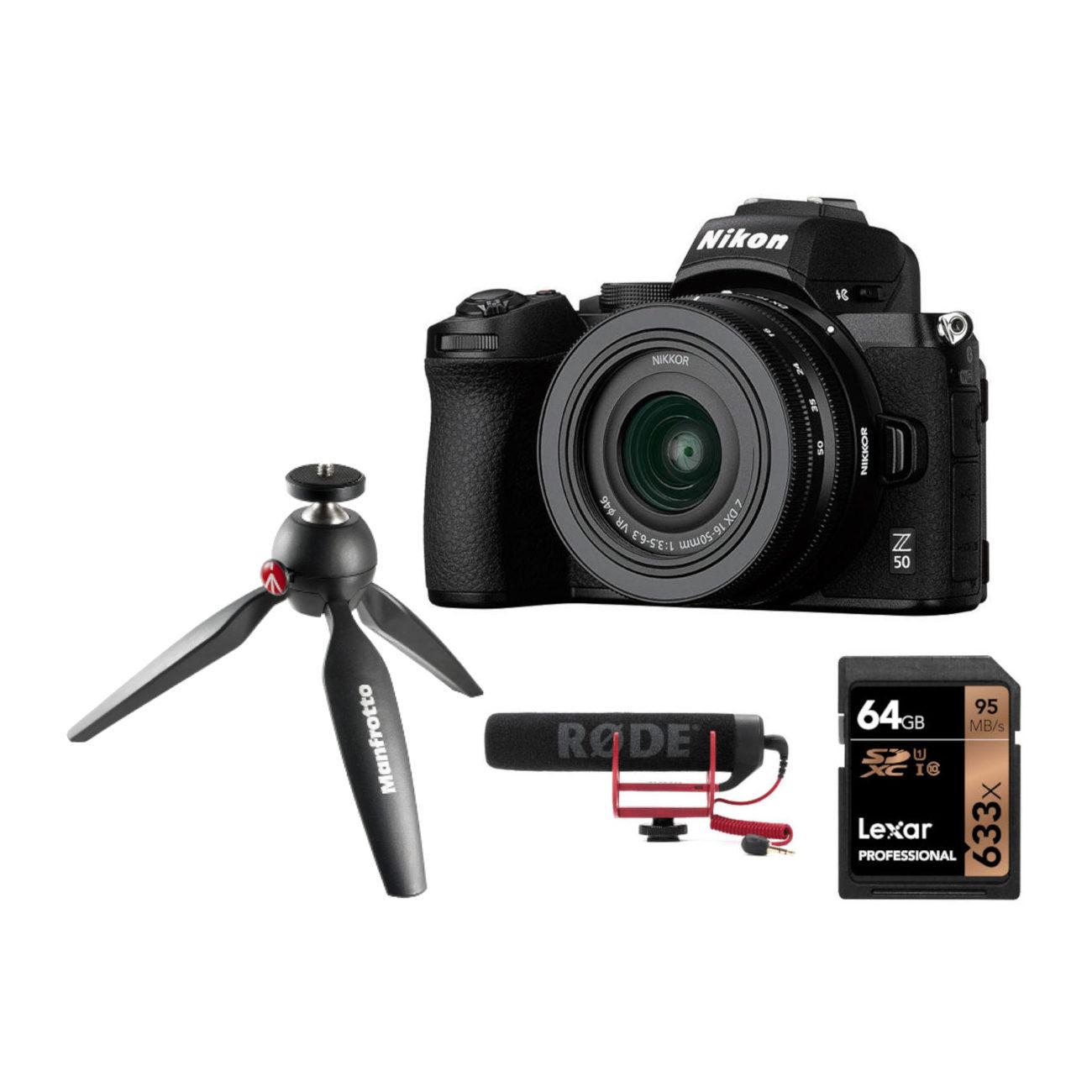 Nikon Z50 systeemcamera + 16-50mm Vlog Kit <br/>€ 1049.00 <br/> <a href='https://www.cameranu.nl/fotografie/?tt=12190_474631_241358_&r=https%3A%2F%2Fwww.cameranu.nl%2Fnl%2Fp3179542%2Fnikon-z50-systeemcamera-16-50mm-vlog-kit%3Fchannable%3De10841.MzE3OTU0Mg%26utm_campaign%3D%26utm_content%3DSysteemcamera%26utm_source%3DTradetracker%26utm_medium%3Dcpc%26utm_term%3DDigitale%2Bcamera%26apos%3Bs' target='_blank'>naar de winkel</a>