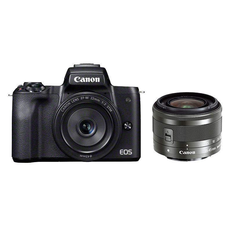 Canon EOS M50 systeemcamera Zwart + 15-45mm IS STM + 22mm STM <br/>€ 749.00 <br/> <a href='https://www.cameranu.nl/fotografie/?tt=12190_474631_241358_&r=https%3A%2F%2Fwww.cameranu.nl%2Fnl%2Fp2352845%2Fcanon-eos-m50-systeemcamera-zwart-15-45mm-is-stm-22mm-stm%3Fchannable%3De10841.MjM1Mjg0NQ%26utm_campaign%3D%26utm_content%3DEOS%2BM%2Bsysteemcamera%26utm_source%3DTradetracker%26utm_medium%3Dcpc%26utm_term%3DDigitale%2Bcamera%26apos%3Bs' target='_blank'>naar de winkel</a>