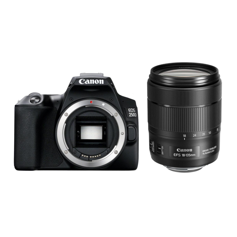 Canon EOS 250D DSLR Zwart + 18-135mm IS USM <br/>€ 919.00 <br/> <a href='https://www.cameranu.nl/fotografie/?tt=12190_474631_241358_&r=https%3A%2F%2Fwww.cameranu.nl%2Fnl%2Fp2978235%2Fcanon-eos-250d-dslr-zwart-18-135mm-is-usm%3Fchannable%3D002a596964003239373832333544%26utm_campaign%3D%26utm_content%3DEOS%2Bspiegelreflex%26utm_source%3DTradetracker%26utm_medium%3Dcpc%26utm_term%3DDigitale%2Bcamera%26apos%3Bs' target='_blank'>naar de winkel</a>
