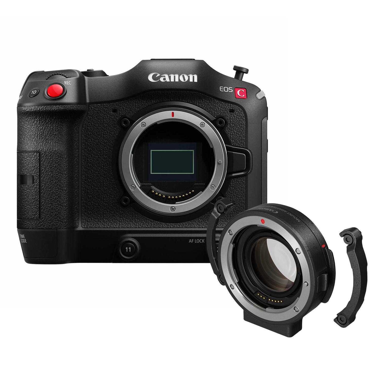 Canon EOS C70 videocamera + EF-EOS Mount Adapter 0.71x