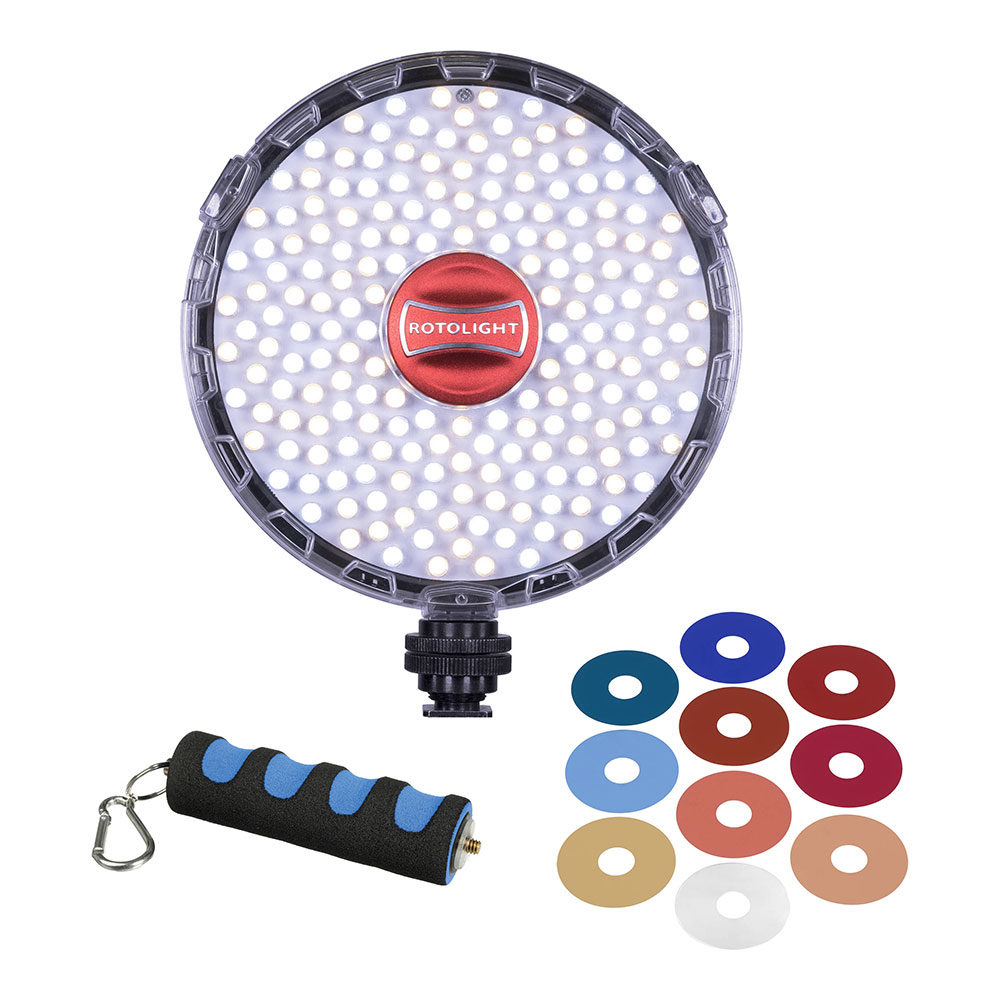 Rotolight NEO 2 LED-lamp + Grip en FX Filter Pack