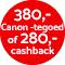 €280,- cashback!