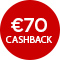 €70,- cashback