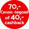 €40,- cashback!