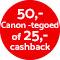 €25,- cashback!